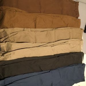 Eddie Bauer men's casual khakis 6 pair (32x34)